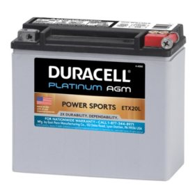 Duracell AGM Powersport Battery - ETX20L