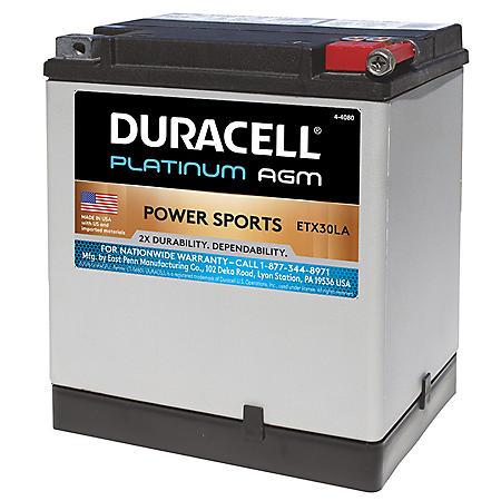 Duracell AGM Powersport Battery - ETX30LA