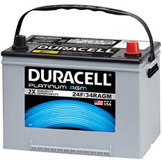 Duracell AGM Automotive Battery - Group Size 24F / 34R