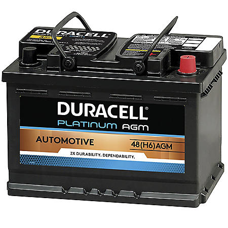 Duracell AGM Automotive Battery - Group Size 48 (H6)