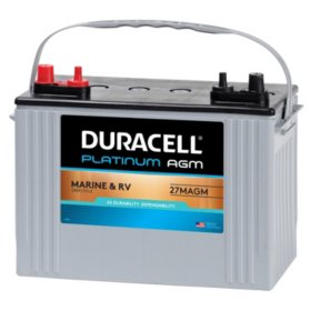 Duracell AGM Marine Battery, Group Size 27M