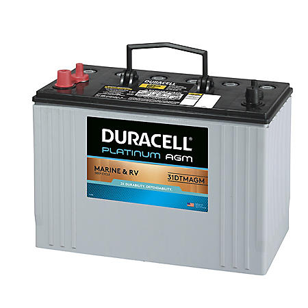 Duracell AGM Deep Cycle Marine and RV Battery , Group Size 31