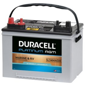 Duracell AGM Deep Cycle Marine and RV Battery, Group Size 34M