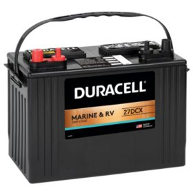 Duracell Marine Deep Cycle Battery, Group size 27