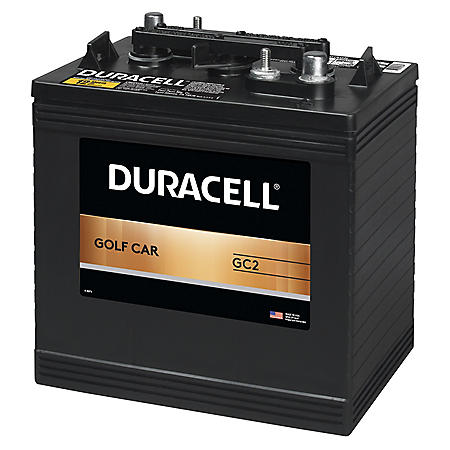 Duracell Golf Car Battery, Group Size GC2