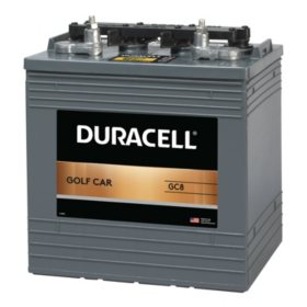 Duracell Golf Car Battery, Group Size GC8