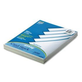 Pacon - Array Colored Card Stock, 65lb, White - 100 Sheets