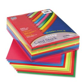 Pacon - Array Card Stock, 65 lbs., Letter, Assorted Colors -  250 Sheets/Pack