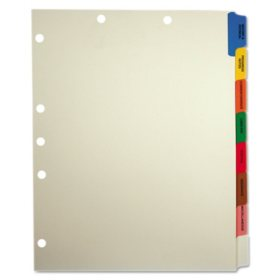 Tabbies Medical Chart Divider Sets, Side Tab, 9 x 11, 40ct.