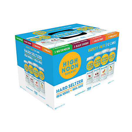 High Noon Sun Sips Hard Seltzer Variety Pack (355ml can, 12 pk.)