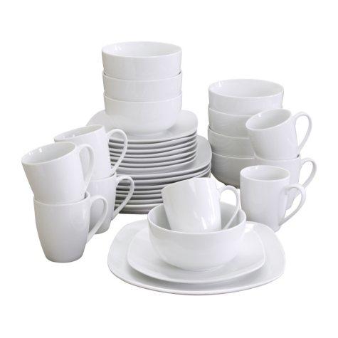 Gibson Elite Pippa Dinnerware Set - White Porcelain - 32 pc.