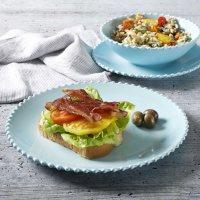 Martha Stewart Beaded Melamine 12-Piece Dinnerware Set (Assorted Colors)