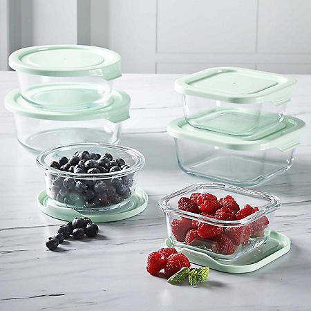 Martha Stewart 12-Piece Glass Storage with Lids Set