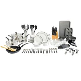 Gibson Home 95-Piece Kitchen Combo Set (Assorted Colors)