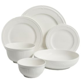 Gibson Elite 48-Piece Porcelain Dinnerware Set (Assorted Styles)