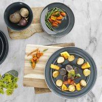 Martha Stewart 12-Piece Reactive Glaze Dinnerware Set (Assorted Colors)
