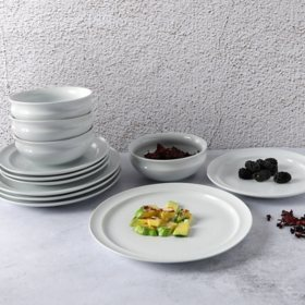 Martha Stewart White Rim 12-Piece Dinnerware Set
