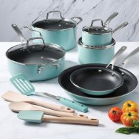 Deals on Martha Stewart 14-Piece Nonstick Aluminum Cookware Set