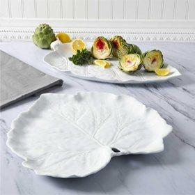 Martha Stewart Leaf Figural Serving Platter Set, 2 Pack