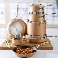 Martha Stewart 12-Piece Hard Anodized Aluminum Cookware Set