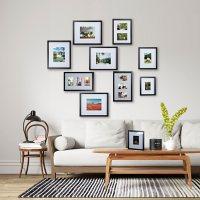 Martha Stewart 10-Piece Black Picture Frame Set