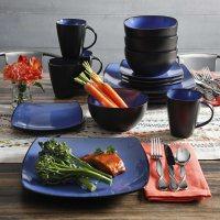 Gibson Home Soho Lounge 16-Piece Reactive Glaze Dinnerware Set (Assorted Colors)