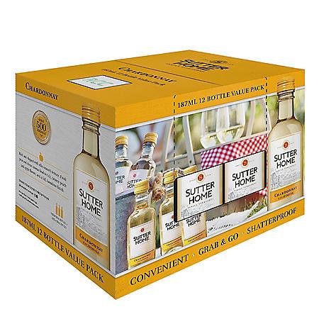 Sutter Home Chardonnay (187 ml bottle, 12 pk.)