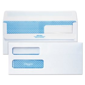 Quality Park - Redi-Seal Envelopes, #10 (4-1/8 X 9-1/2) - Double Window