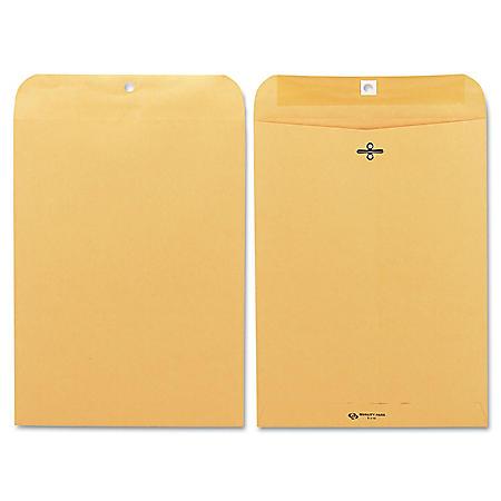 Quality Park - Clasp Envelope, 9 x 12, Brown Kraft - 100/Box