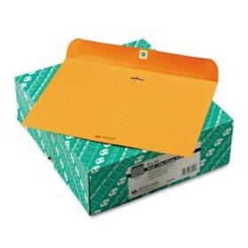 "Quality Park - Redi-File Clasp Envelope, Contemporary, 12"" x 9"", Brown Kraft -  100/Box"