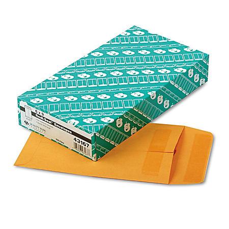 "Quality Park Redi-Seal Catalog Envelopes - 6"" x 9"" - Light Brown - 100 ct."