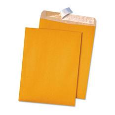 Quality Park - 100% Recycled Brown Kraft Redi-Strip Envelope, 9 x 12, Brown Kraft, 100 per Box