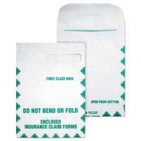 Quality Park - Redi-Seal Insurance Envelope, First Class, Side Seam, 9 x 12 1/2, White - 100/Box