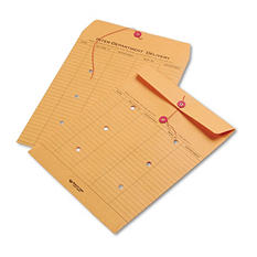 Quality Park - Brown Kraft Kraft String & Button Interoffice Envelope, 10 x 13 - 100/Carton