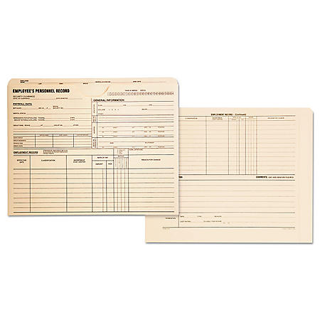 Quality Park - Employee's Personnel Record Jackets