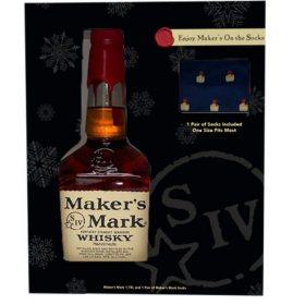 Maker's Mark Bourbon Whisky (1.75 L) w/socks Holiday Gift