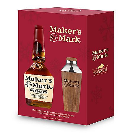 Maker's Mark Bourbon Whisky with Shaker Gift Pack