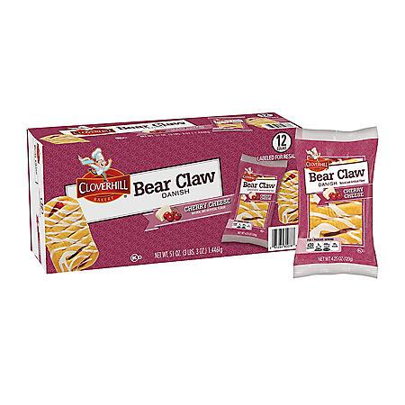 Cloverhill Cherry Cheese Bear Claw (4.25oz / 12pk)