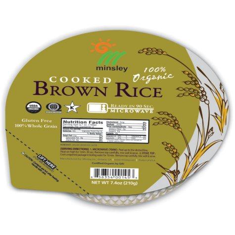 Minsley Organic Brown Rice - 7.4 oz - 4 pk.