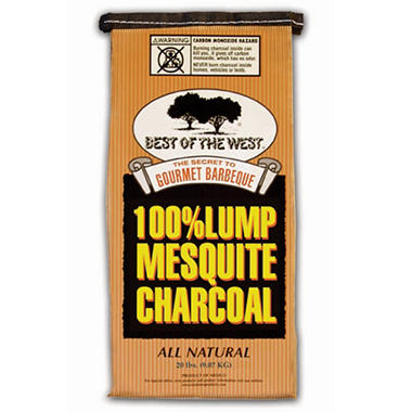 Best of the West 100% Mesquite Lump Charcoal - 20 lbs