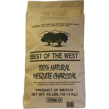 Best of the West 100% Mesquite Lump Charcoal -40lb