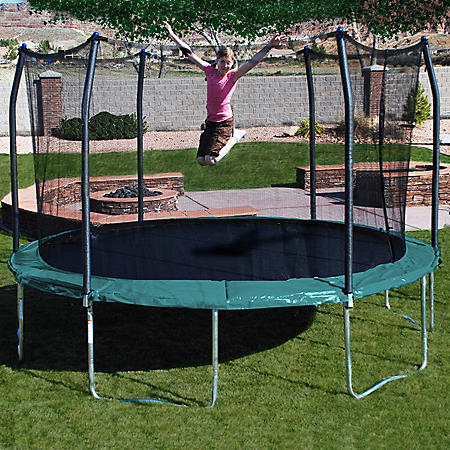 14' Round Trampoline and Enclosure Combo