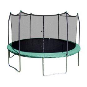 Skywalker Trampolines 12' Round Trampoline and Enclosure - Green
