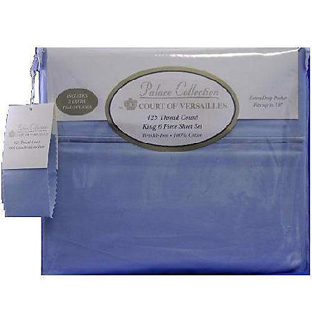 court of versailles king sheet set blue suede sam s club sam s club