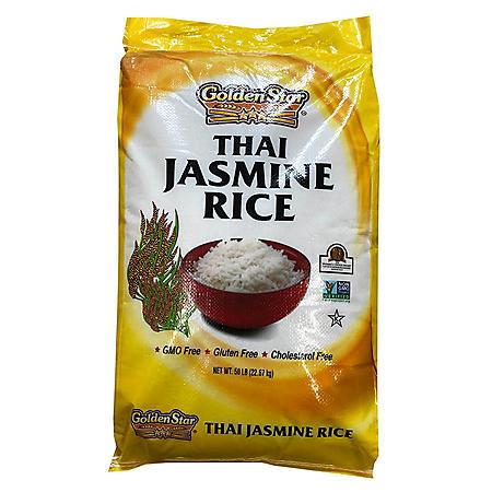 Golden Star Thai Jasmine Rice (50 lb.)