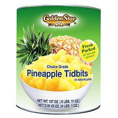 Golden Star Pineapple Tidbits (107 oz. can)