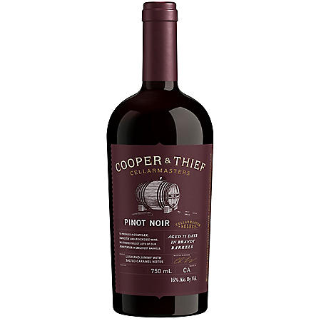 Cooper & Thief Brandy Barrel Aged Pinot Noir (750 ml)