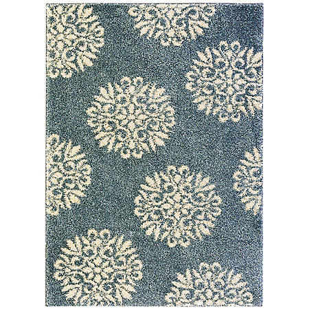 Exploded Medallions Bay Blue Rug