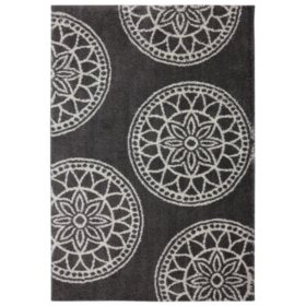 Gray Medallions Cocoa Rug