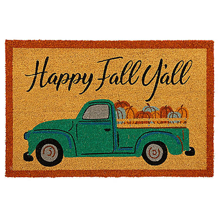 Mohawk Happy Fall Y'All Truck Rectangle Coir Mat, 2' x 3'